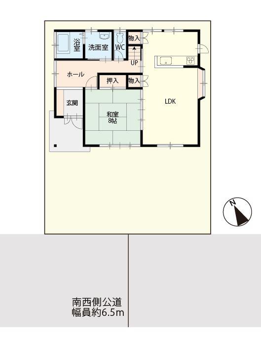 幕山台二丁目敷地配置図