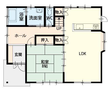 幕山台2丁目間取図1階